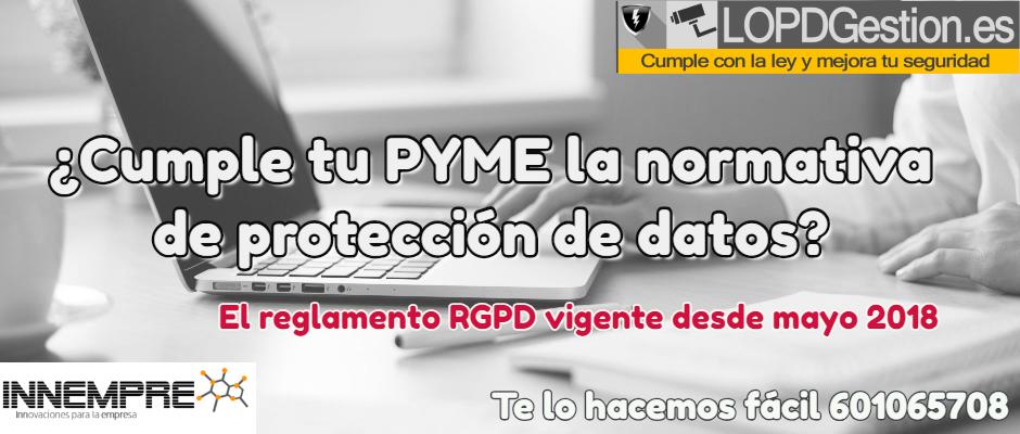 Cumple normativa RGPD de protección de datos